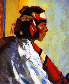 Robert Henri [American Ashcan School Painter, 1865-1929] Miguel of Tesuque 1917 Oil on canvas 61.28 cm (24.13 in.) x 51.44 cm (20....