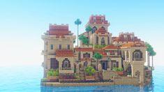 Minecraft Mansion, Minecraft Cottage, Cute Minecraft Houses, Minecraft Castle, Minecraft House Designs, Minecraft Creations, Minecraft Crafts, Cit Minecraft, Minecraft Desert House