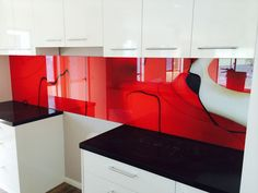 M glass! Prepare to be amazed at how printed glass splashbacks, canvas art and custom wallpaper can transform your home or office! Kitchen Backsplash, Kitchen Cabinets, Printed Glass Splashbacks, Custom Wallpaper, Prints, Home Decor, Decoration Home, Room Decor, Cabinets