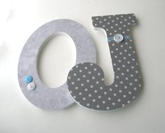 Gray+Custom+Wooden+Letters+with+your+Accent+Color+by+LetterLuxe,+$25.00