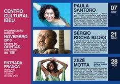 Programação Musical de Novembro - Centro Cultural Ibeu