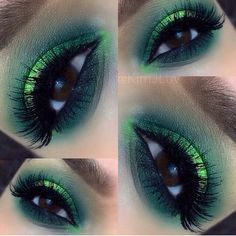 Amazing turquoise & lime green smokey eye look   FROM: Motive Cosmetics   BY: KimJLuv  - LR