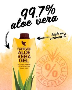 Drink in the benefits of Forever Aloe Vera Gel. Our aloe vera drinking gel is made of pure inner leaf aloe with no preservatives for an experience as close to nature as you can get! Forever Living Company, Forever Company, Forever Living Business, Forever Living Products, Aloe Vera Gel Forever, Forever Living Aloe Vera, Forever France, Aloe Blossom Herbal Tea, Forever Aloe Berry Nectar