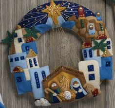 Colray Crafts Home: OnLine Shopping for Cross-Stitch, Needlepoint and Felt Applique Sewing Kits Christmas decorations Felt Christmas Decorations, Felt Christmas Ornaments, Christmas Nativity, Christmas Art, Christmas Projects, Handmade Christmas, Christmas Stockings, Christmas Wreaths, Christmas Child