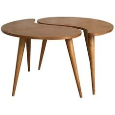 buy popular cd801 f5001 Rare Awesome Dutch Kidney-Shaped Coffee Table Set from  Gelderland NV ,  1950s