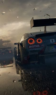 Forza race cars at the srating line on a wet track in Nissan Skyline Gt R, Nissan Gt R, Skyline Gtr, Mustang Wallpaper, Jdm Wallpaper, Sports Car Wallpaper, Nissan Gtr Wallpapers, Car Wallpapers, Wallpapers Android