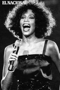 Whitney Houston. Cantante y actriz estadounidense en Venezuela. Caracas, 14-05-1988 (ARCHIVO EL NACIONAL)