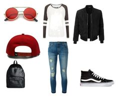 """""""Untitled #44"""" by directioner-792 on Polyvore featuring MICHAEL Michael Kors, LE3NO, Vans, ZeroUV, Superdry and Eastpak"""