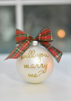 Will You Marry Me Ornament / Marriage Proposal Ideas / Christmas Engagement Ideas / Christmas Proposal