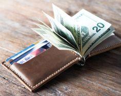 Money Clip Wallet, Leather Money Clip Wallet, Mens Leather Wallet, Wallets for Him, Gifts for Men - Listing #028