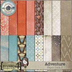 Digital Art :: Paper Packs & Backgrounds :: Adventure - Paper by Designworks Paper Packs, Nature Adventure, All Paper, Site Design, Pattern Paper, Traditional Art, Digital Scrapbooking, Overlays, Digital Art