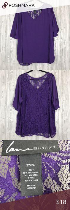 fc24bd8d79dcd Lace back too Lace back Top. Excellent condition. Size 22 24 Lane Bryant