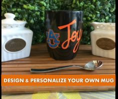 Auburn Tigers - Customize & Personalize Your Own Handpainted 12 by MugFullofLove