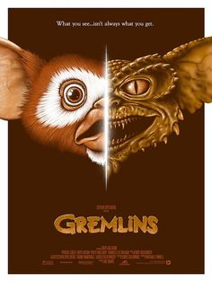 Gremlins alternative movie poster by Adam Rabalais Best Movie Posters, Horror Movie Posters, Movie Poster Art, Cool Posters, Horror Movies, Fan Poster, Art Posters, Cultura Nerd, Cultura Pop