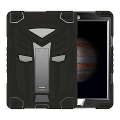 For Apple ipad Air 2 Case Air2 Military Transformer Hybrid Shockproof Cover For New ipad 6 PC Silicone Smart Stand Holder Case