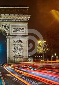Photo about Colorful night in Paris. Cars are comming from The Avenue des Champs-Élysées. Crossroads in front of the Arc de Triomphe. Image of front, tourustic, triomphe - 107449678 Virtual Travel, Triomphe, Champs Elysees, Travel Tours, Paris Travel, Colorful, Stock Photos, Cars, Night