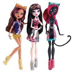 All about Monster High: Clawdeen Wolf  , Draculaura  & Catty Noir Ou...