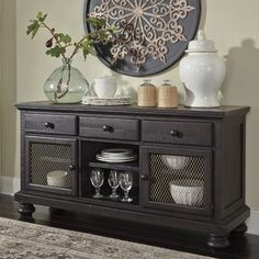 Darby Home Co Alsace Buffet Display Stand