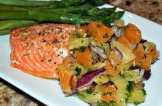 Foodista | Recipes, Cooking Tips, and Food News | Baked Salmon With *Mandarin Orange and Pineapple Salsa