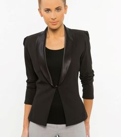 New Gorgeous Spa Jacket - Satin collar. This new jacket is a fantastic stylish piece to add to your uniform attire. We make these jackets as ordered so allow two and a half weeks for them to be made in Brisbane and posted out. The sizes are very true to size and a great fit. We have made them slightly larger so you can wear them over our tunics and dresses. They also look great with our black tee shirt and long pants. Our sizing range is sizes 4-24. Colours available black.