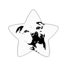 Pitbull Star stickers, you can add text or upload your own image  #pitbull #pitbulls #sticker #stickers #gifts #dog
