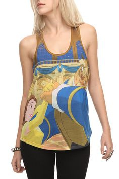 Disney Beauty and the Beast Girls Tank Top