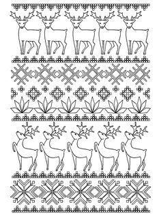 Scandinavian Adult Christmas Coloring Page
