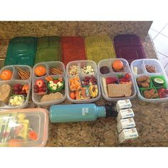 "Food prep! in #EasyLunchboxes. ""This way we save money, food is simple while we're on the go and healthy too! in our #easylunchboxes""  Purchase EasyLunchbox containers HERE: http://www.easylunchboxes.com/"