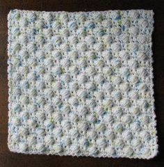 Ball Stitch Dishcloth - the balls are stitched right into the dishcloth making it great for scrubbing caked on dishes.