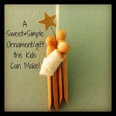 Sweet and simple! What a wonderful project for kids. It would make a great gift for teachers, coaches or for the family Christmas tree. Creating this together would provide the perfect time to talk with your kids about the true meaning of Christmas.