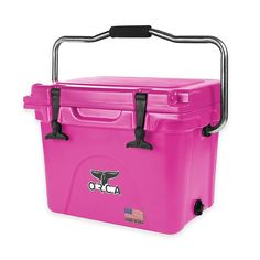 Be sure to bring along this Orca Ice Retention Cooler to have cold drinks and snacks available at your next trip to the beach, park, tailgate party, or picnic. This durable cooler is designed to keep your items chilled for up to 10 days. Pink Tool Box, Pink Bedding, Perfect Pink, Cold Drinks, Cleaning Wipes, Camper Life, Camping, Swim Cover, Dream Houses