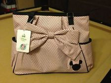 Disney MINNIE MOUSE Pink Black Baby Girl Large Diaper Bag NWT New