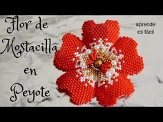 Aretes Of flora in tecnica ladrillo - Y . Seed Bead Flowers, Beaded Flowers, Seed Beads, Seed Bead Tutorials, Beading Tutorials, Peyote Patterns, Beading Patterns, Flower Outline, Beaded Jewelry Patterns