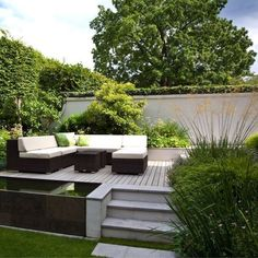 Landform Consultants - St Margarets Contemporary Garden design - Ideal for the garden of the house I'd like to fix up (Slate Garden Step)
