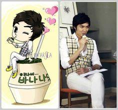Lee Min Ho…..I totally loved this cameral & I totally <3 Korean Banana Milk!!!!