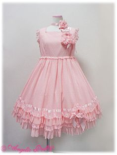 Angelic Pretty » One Piece » Afternoon Garden OP  The details are better seen in pink version though.