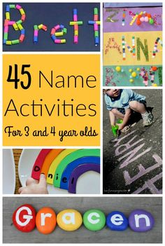 45 Awesome Name Activities for Preschoolers! - How Wee Learn These are AWESOME name activities for preschoolers! Teaching name recognition and name letters is a great first step to learning letters of the alphabet for kids. Preschool Name Recognition, Name Activities Preschool, Name Writing Activities, Kindergarten Names, Kids Learning Activities, Learning Letters, Alphabet Activities, Preschool Activities, Teaching Kids
