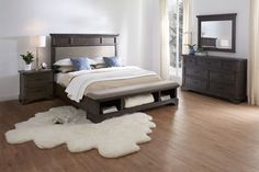 With rugged good looks and an industrial edge, the Victor Bedroom Collection is just what your cozy sleep sanctuary needs. King Storage Bed, Bedroom Storage, Bedroom Layouts, Bedroom Sets, Master Bedroom, Bedroom Furniture, Bedroom Decor, Bedroom Stuff, Value City Furniture
