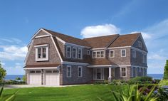 Rendering of new home water front home in Brewster, designed and built by REEF, Cape Cod's home builder