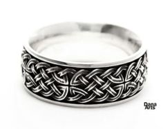 Celtic knot band - Sterling Silver