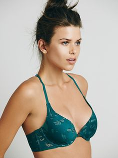 Intimately Womens Eyelet My Heart Underwire in Green (Evergreen Combo) | Lyst