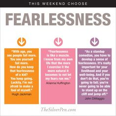 This Weekend: Choose Fearlessness - The Silver Pen Life Quotes Pictures, Inspirational Quotes Pictures, Words Quotes, Me Quotes, Sayings, Breast Cancer Inspiration, Silver Pen, Health Anxiety, Creative Business