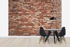 Old Brickwall Red - Wall Mural & Photo Wallpaper - Photowall