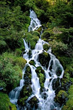 New Zealand, but on the North island, in the Tongariro National Park. It's a waterfall next to Waitonga Falls, which is just up from the town of Ohakune (home to the giant carrot!), on the round the mountain track :)