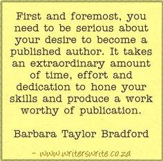 Quotable - Barbara Taylor Bradford - Writers Write Creative Blog