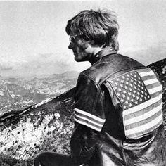 Poter Fonda as Captain America in easy Rider (1969)