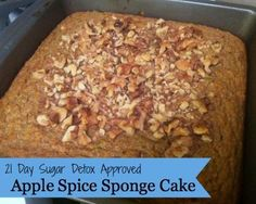 21 Day Sugar Detox Apple Spice Sponge Cake - Pain-Free Kitchen #21DSD #paleocake