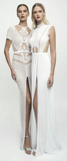 Lior Charchy NYC 2017 Bridal short sleeveless high neck heavy embellishment sheath wedding gown #weddingdress #wedding #weddinggown #bridedress