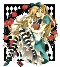 Anime girl looking like Alice from Lewis Carroll novel Manga Art, Manga Anime, Anime Art, Studio Ghibli Films, Chibi, Alice In Wonderland Drawings, Wonderland Alice, Alice Anime, Anime Pictures