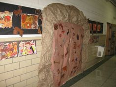 Graders created these cave paintings using oil pastels and water colors. I purchased cave stamps and some of the students used them . Art History Lessons, Art Lessons, Stone Age Art, 5th Grade Art, Grade 1, Grace Art, Class Displays, Iron Age, Arts Ed